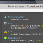 Specificatii PC – Speccy